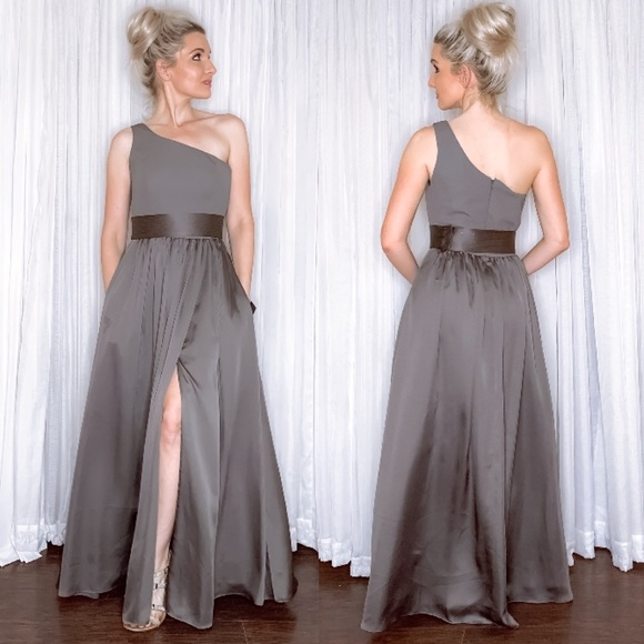 Vera Wang Dresses & Skirts - Vera Wang Charcoal Grey Bridesmaid Formal Dress